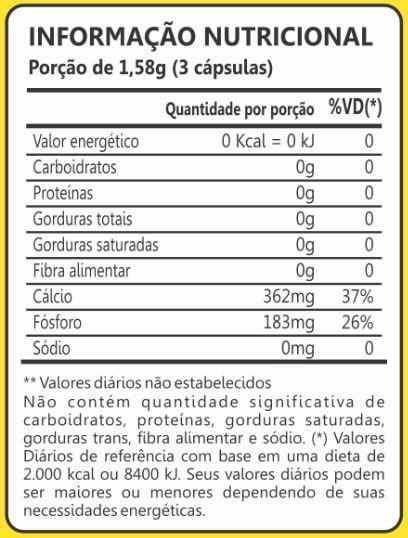 Cartilagem de Tubarão 500mg 60 Cápsulas Maxinutri