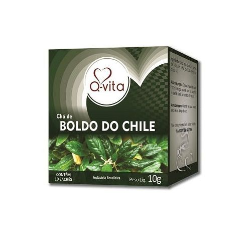 Chá de Boldo do Chile 10 Sachês Q-Vita