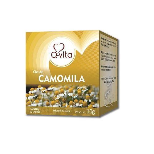 Chá de Camomila 10 Sachês Q-Vita