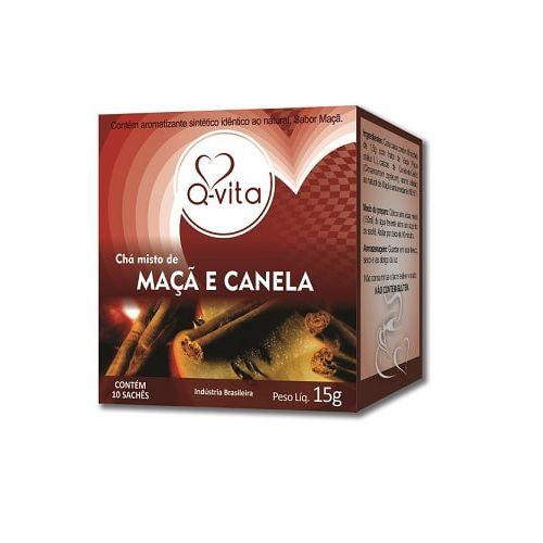 Chá de Maçã com Canela 10 Sachês Q-Vita