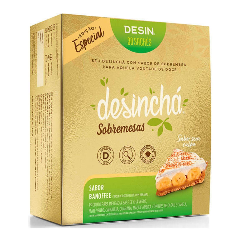 Chá Desinchá 30 Sachês Sobremesas Banoffee