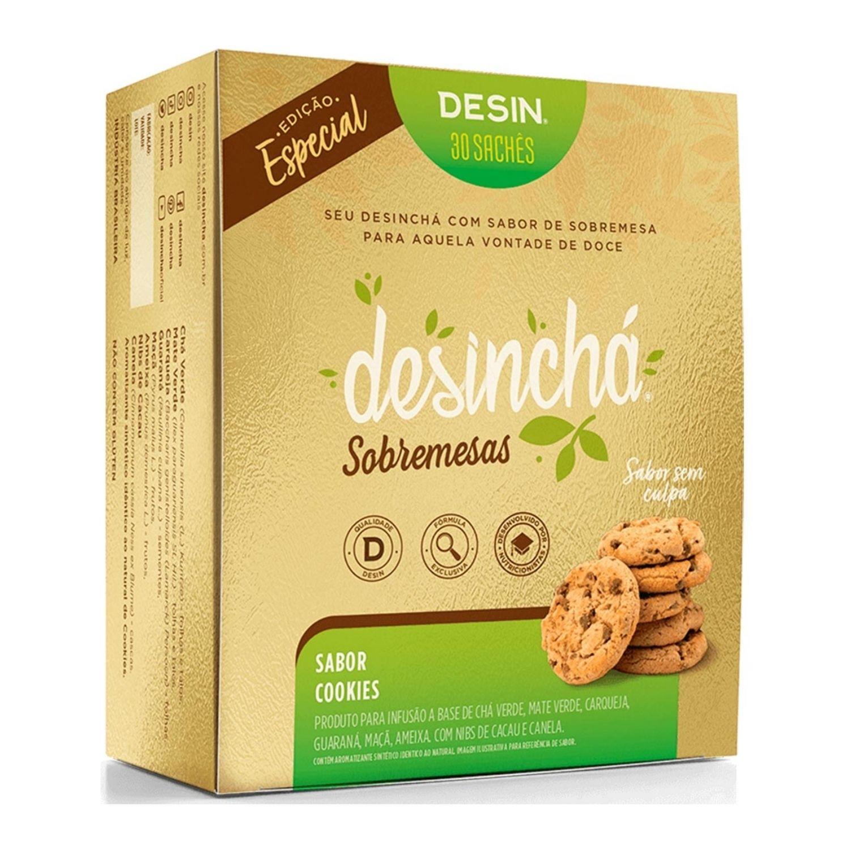 Chá Desinchá 30 Sachês Sobremesas Cookies