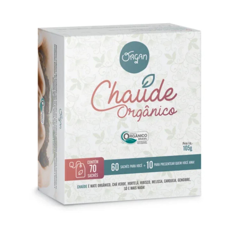 Chá Orgânico Chaúde 70 Sachês de 1,5g