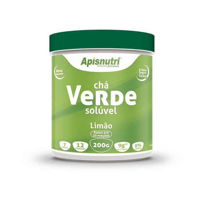 Chá Verde Solúvel 200g Apisnutri