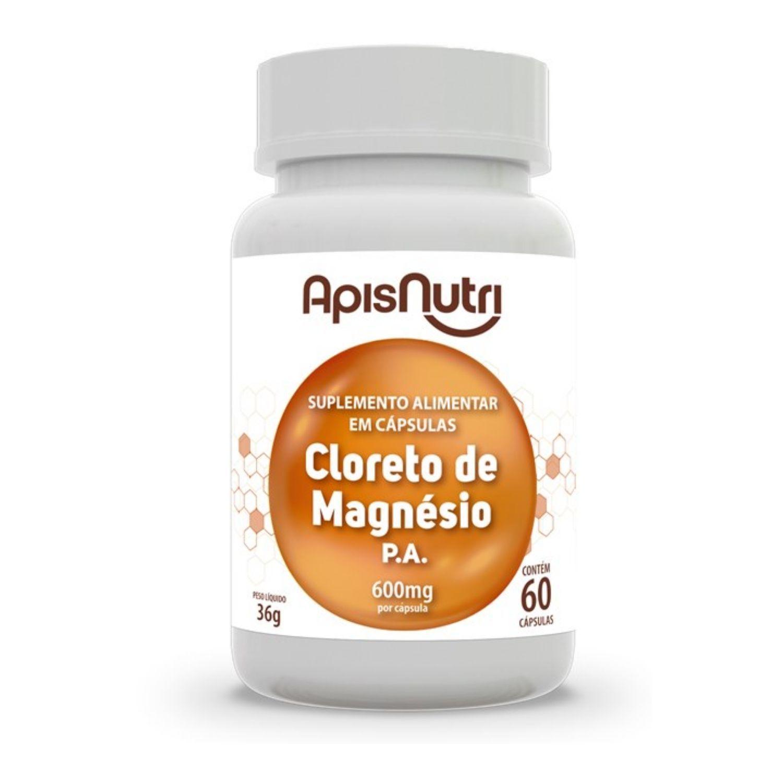 Cloreto de Magnésio 600mg 60 Cápsulas Apisnutri