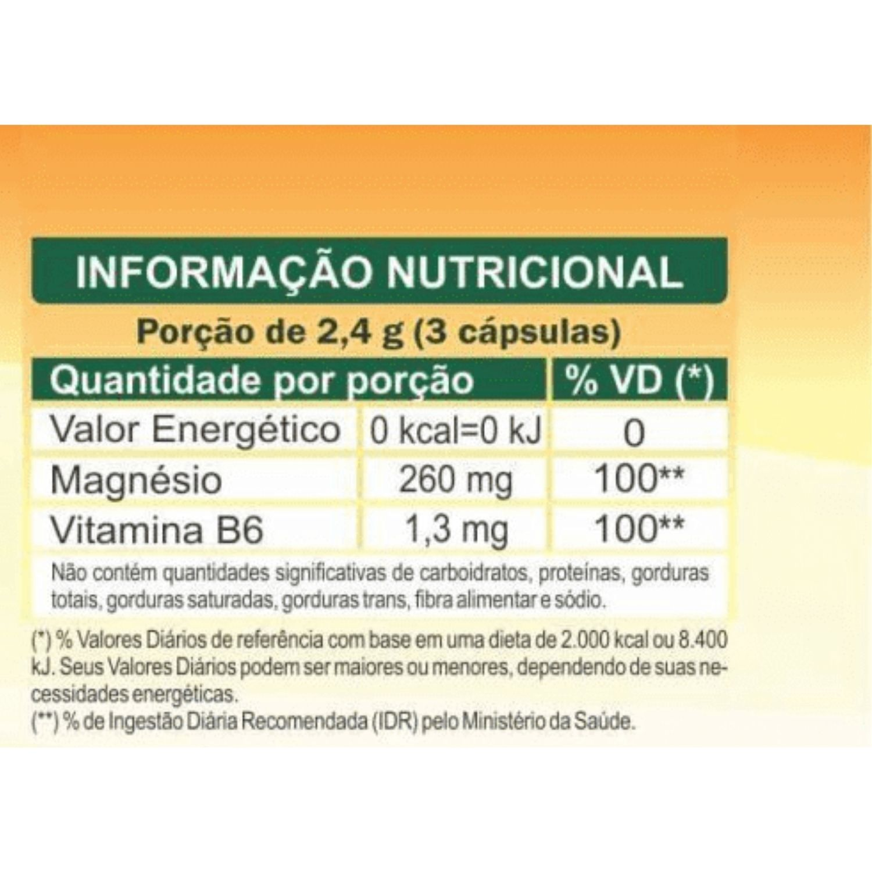 Cloreto de Magnésio P.A. + Vitamina B6 800mg 120 Cápsulas Unilife