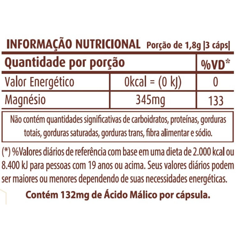 Cloreto e Dimalato de Magnésio 600mg 90 Cápsulas Apisnutri