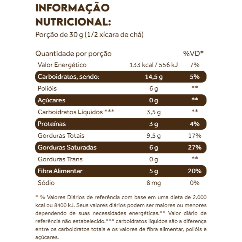 Coconut Granola 300g Dark Chocolate Puravida Sem Glúten e Sem Açúcar