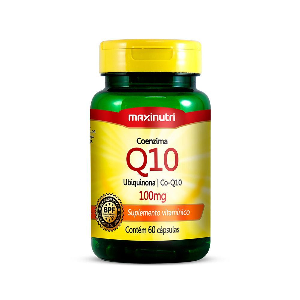 Coenzima Q10 100mg 60 Cápsulas Maxinutri