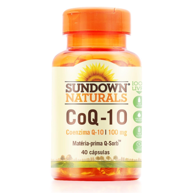 Coenzima Q10 CoQ-10 100mg 40 Cápsulas Sundown Naturals
