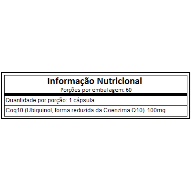 Coenzima Q10 Ubiquinol 100mg 60 Cápsulas Now Foods