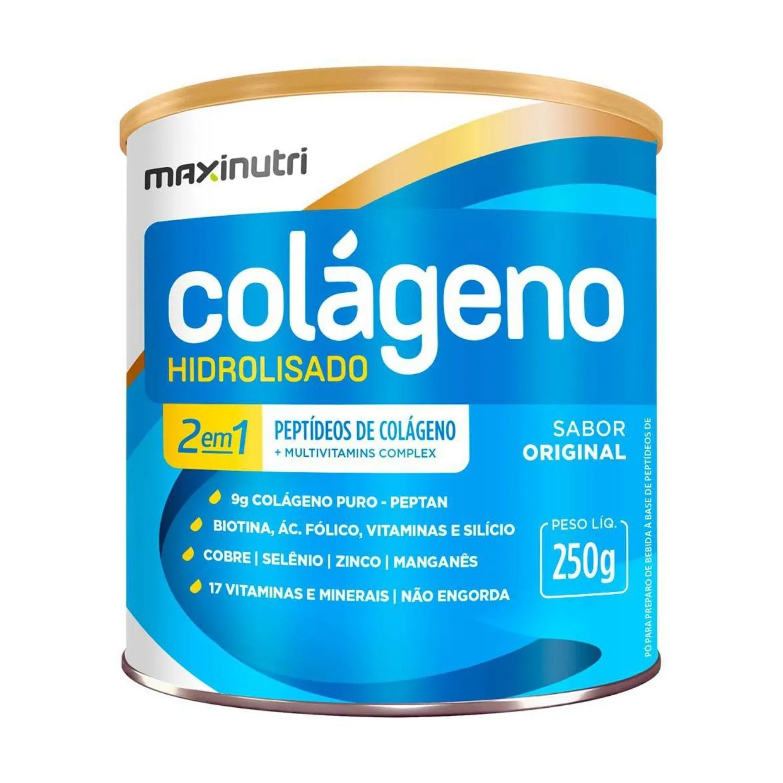 Colágeno Hidrolisado 2 em 1 250g Maxinutri Sabor Natural