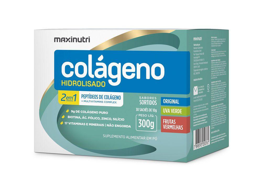 Colágeno Hidrolisado 2 em 1 30 Sachês Maxinutri