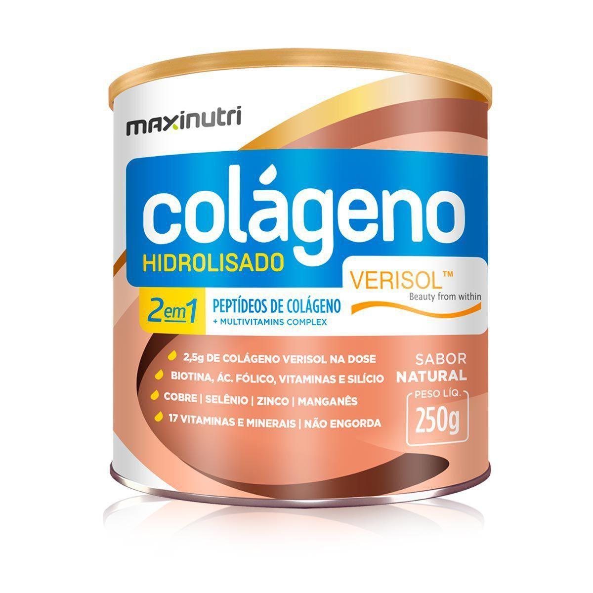 Colágeno Hidrolisado 2 em 1 Verisol 250g Maxinutri