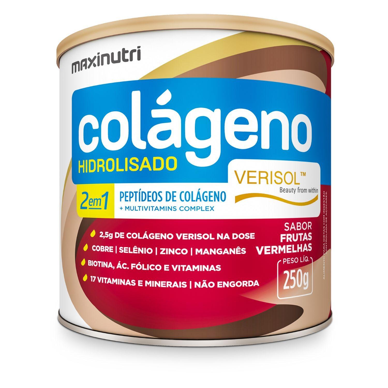 Colágeno Hidrolisado 2 em 1 Verisol 250g Maxinutri Sabor Frutas Vermelhas