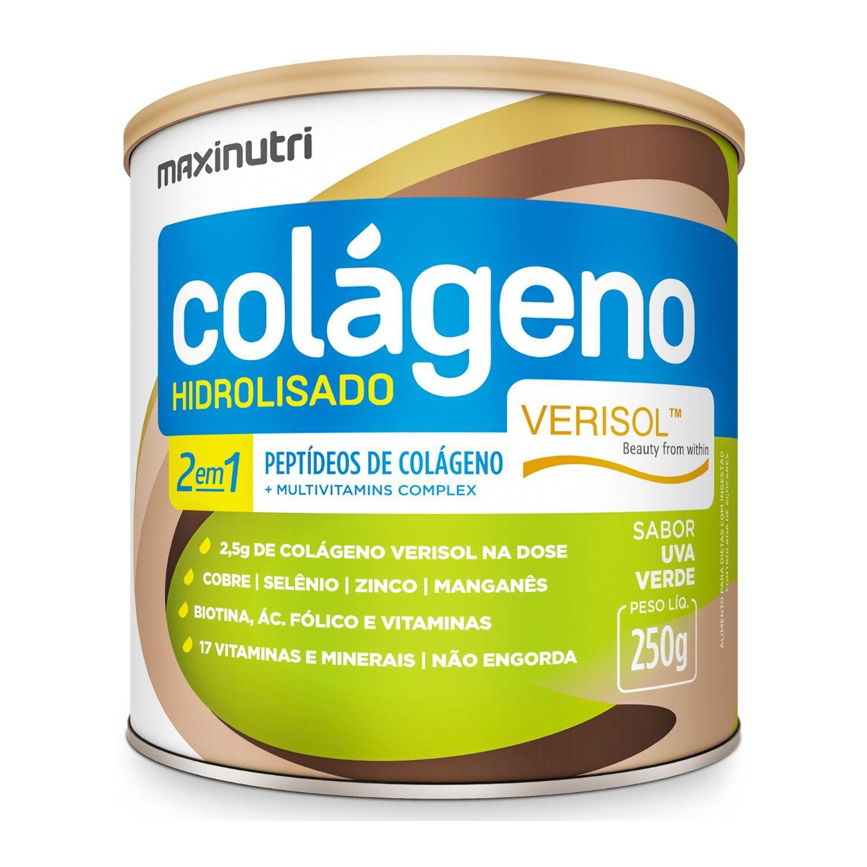 Colágeno Hidrolisado 2 em 1 Verisol 250g Maxinutri Sabor Uva Verde