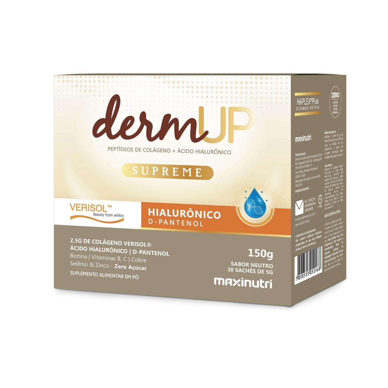 Colágeno Hidrolisado DermUp Supreme Verisol e D-Pantenol 30 Sachês Maxinutri