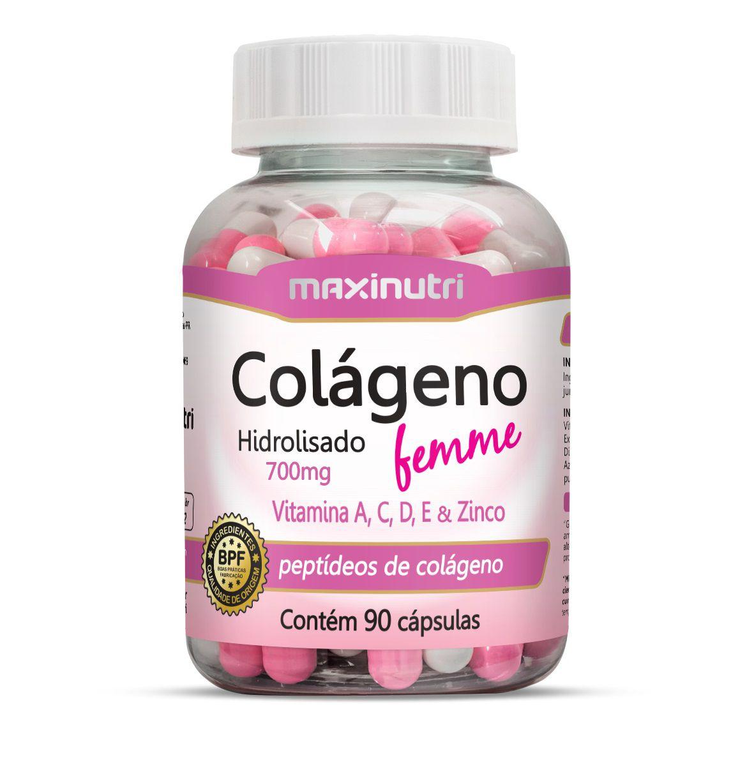 Colágeno Hidrolisado Femme 90 Cápsulas Maxinutri