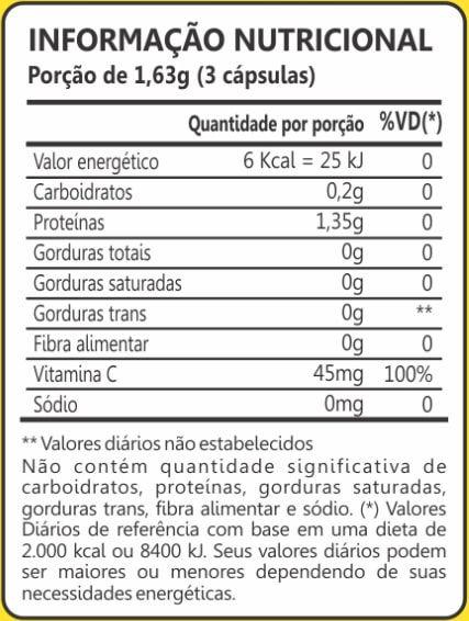 Colágeno Hidrolisado + Vitamina C 400mg 60 Cápsulas Maxinutri