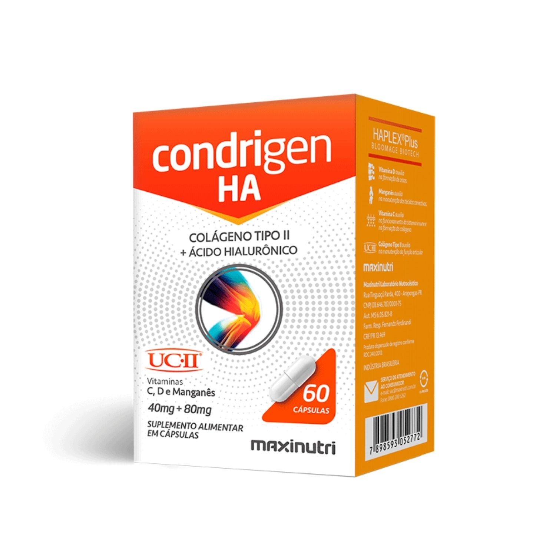 Condrigen HA Colágeno Tipo II + Ácido Hialurônico 60 Cápsulas Maxinutri