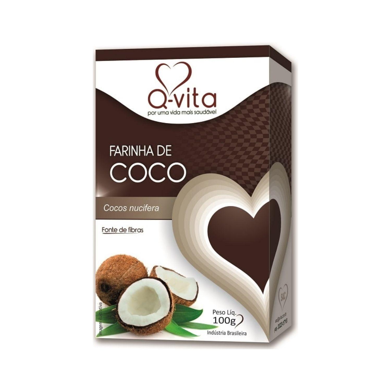 Farinha de Coco Q-Vita 100g Sem Glúten Sem Lactose