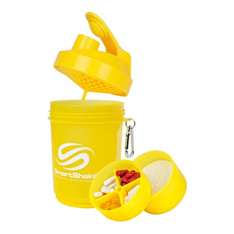 Coqueteleira 3 Doses SmartShake V2 Neon 600ml Amarela