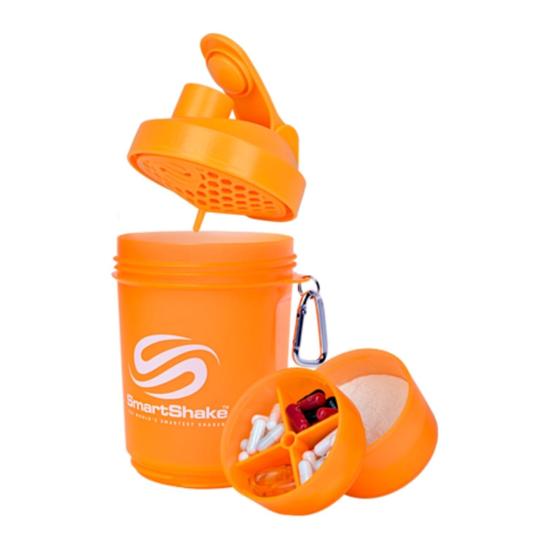 Coqueteleira 3 Doses SmartShake V2 Neon 600ml Laranja