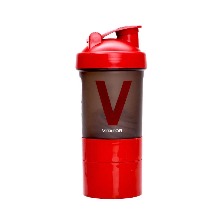 Coqueteleira 3 Doses Vitafor 400ml Vermelha