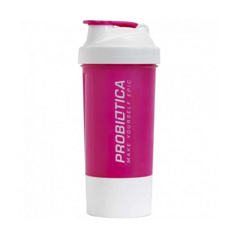 Coqueteleira Premium 2 Doses Probiótica Rosa e Branca