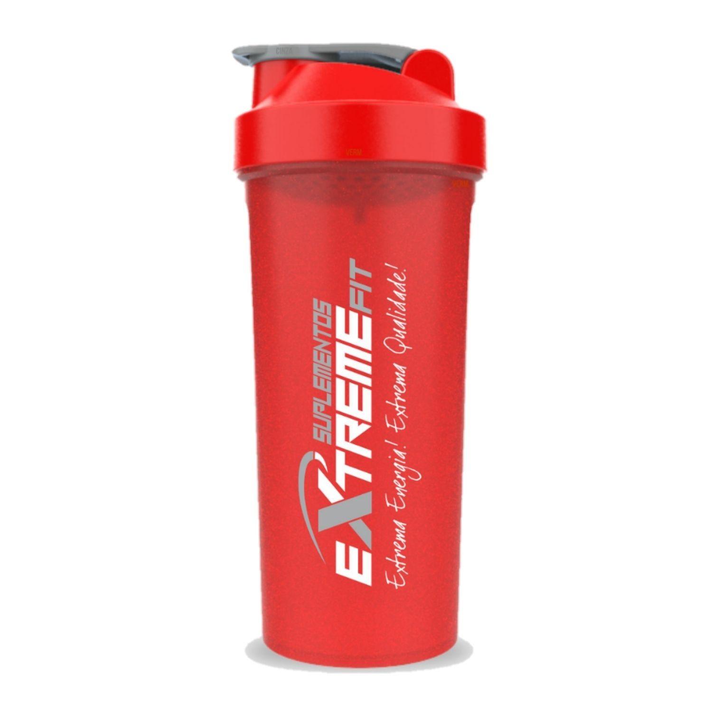 Coqueteleira Slim 600ml BPA Free ExtremeFit Vermelha