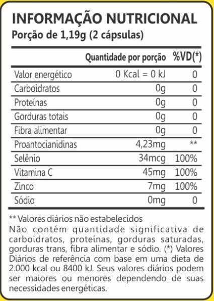Cranberry + Vitamina C, Zinco e Selênio 60 Cápsulas Maxinutri
