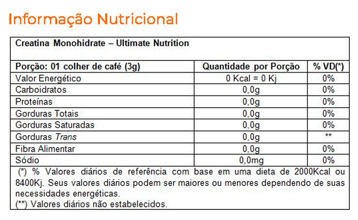 Creatina 300g Ultimate Nutrition