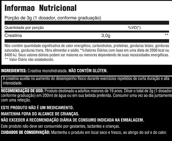 Creatina Monoidratada 200g Universal Nutrition