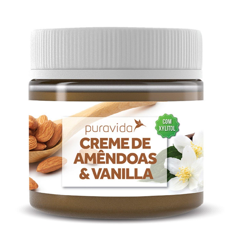 Creme de Amêndoas & Vanilla Sem açúcar 300g Puravida