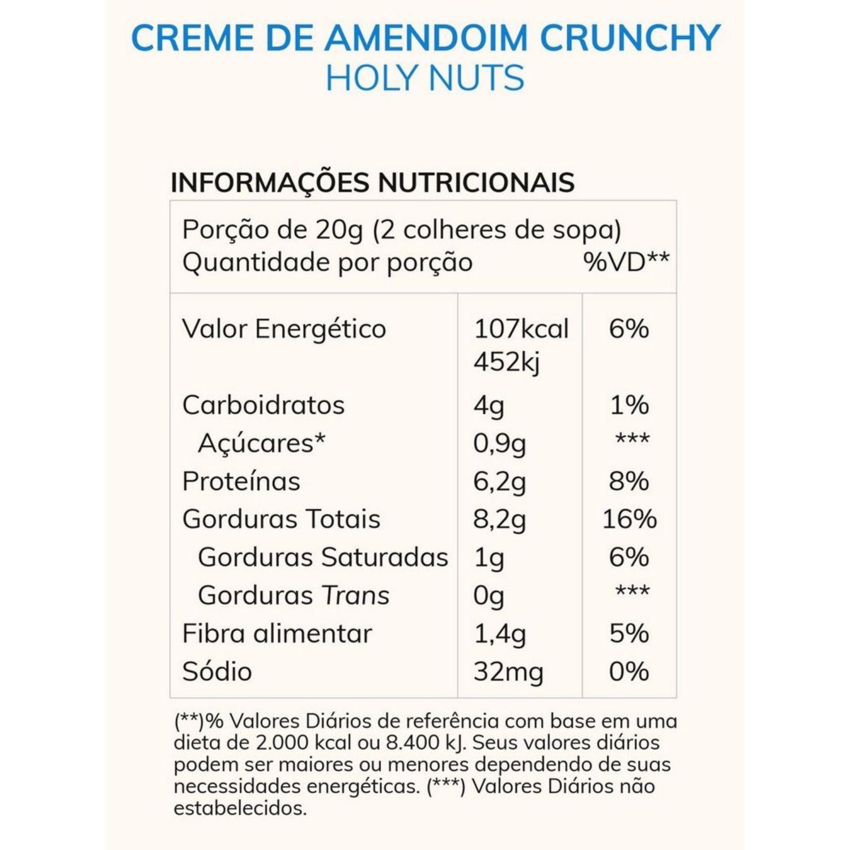 Creme de Amendoim Crunchy +MU Holy Nuts Chocolate com Whey Protein 150g Sem Açúcar