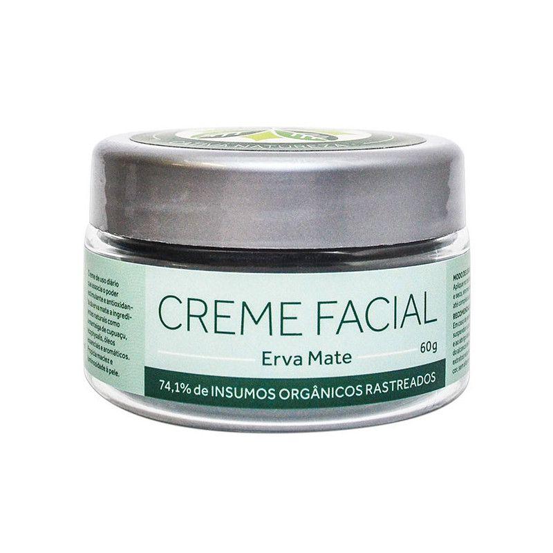Creme Facial Erva Mate Orgânico Natural Vegano 60g
