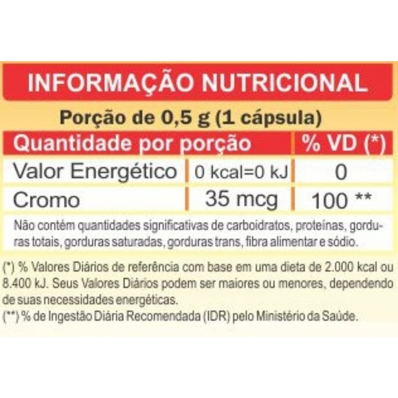 Cromo Quelato 500mg 60 Cápsulas Unilife