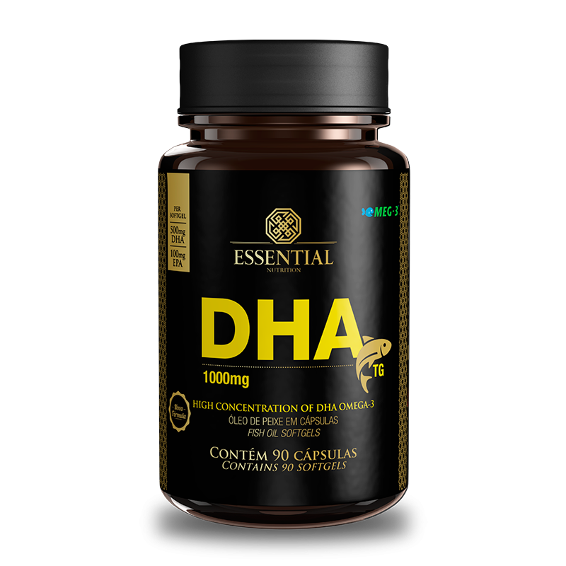 DHA TG 1000mg 90 Cápsulas Essential Nutrition