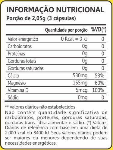 Dolomita 600mg 60 Cápsulas Maxinutri