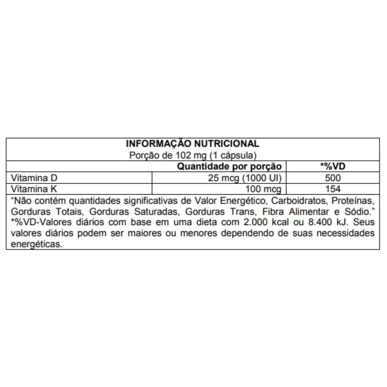 DSUN + K2 60 Cápsulas CleanLab Atlhetica Nutrition