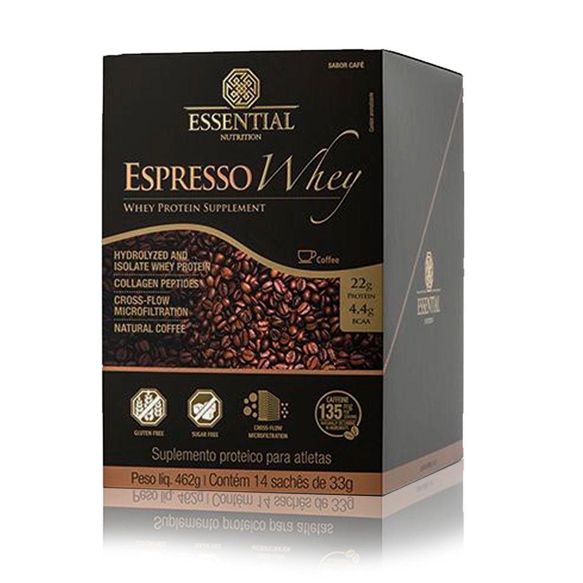 Expresso Whey Display com 14 Saches de 33g Essential Nutrition