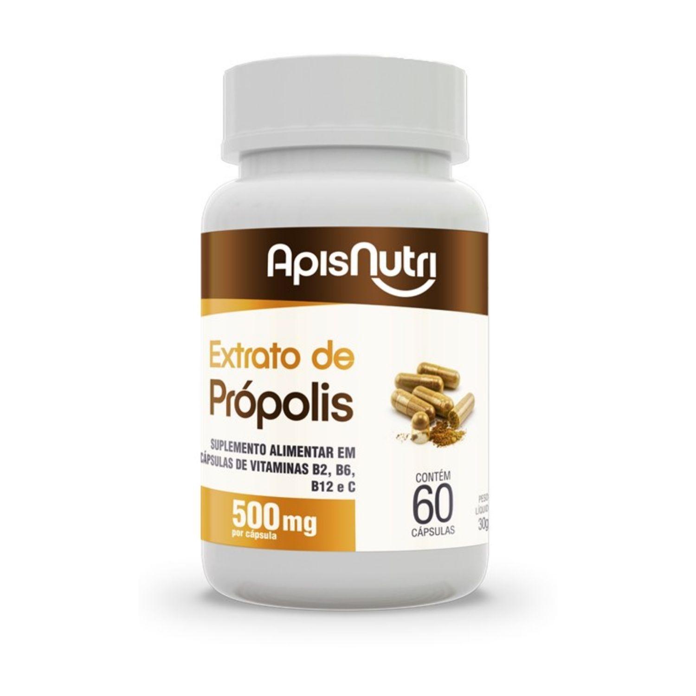 Extrato de Própolis 500mg 60 cápsulas Apisnutri