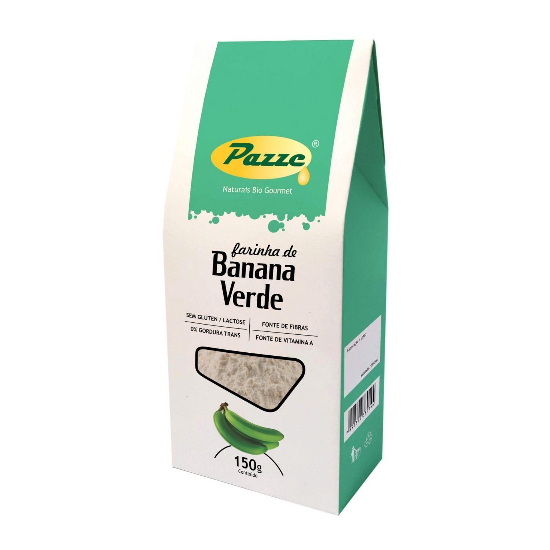 Farinha de Banana Verde Pazze 150g Sem Glúten Sem Lactose