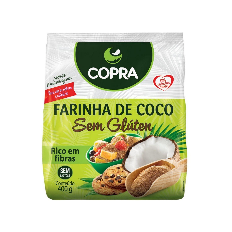 Farinha de Coco Copra 400g Sem Glúten Sem Lactose