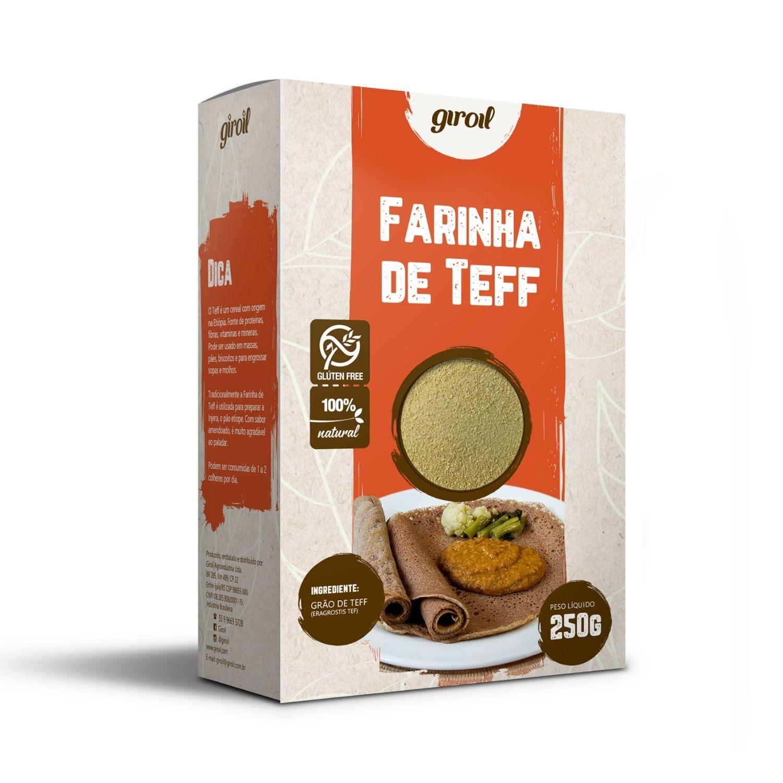 Farinha de Teff Giroil 250g Sem Glúten Sem Lactose
