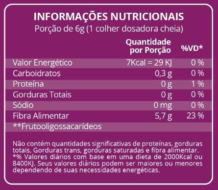 FOS Prebiótico 220g Maxinutri