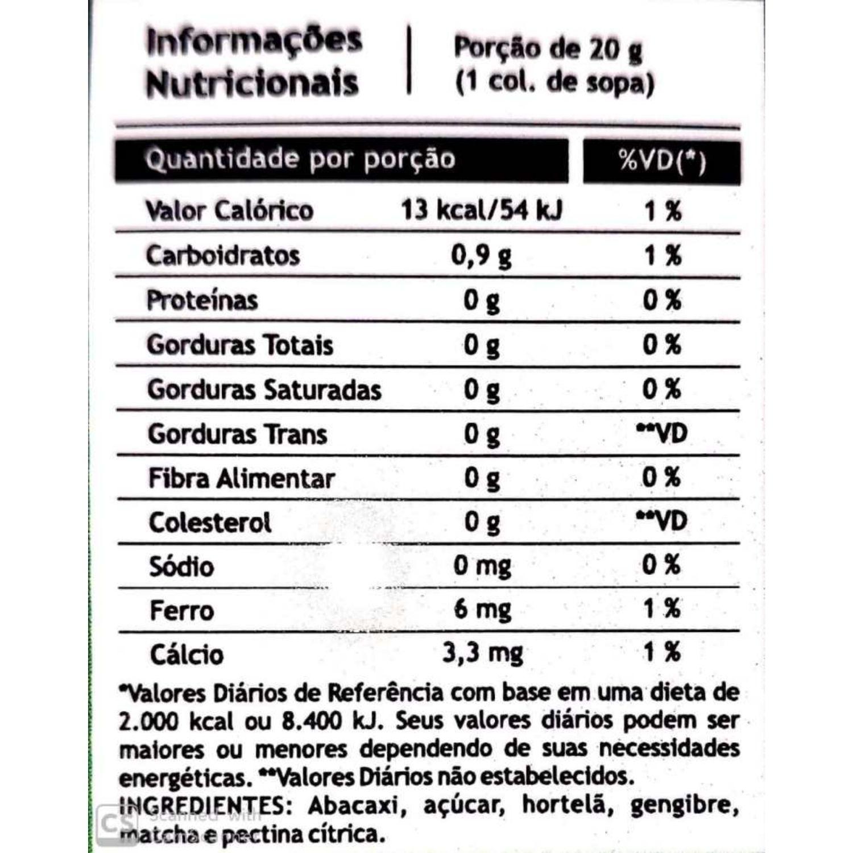 Geleia Funcional de Abacaxi, Hortelã, Gengibre e Matcha Pazze 280g