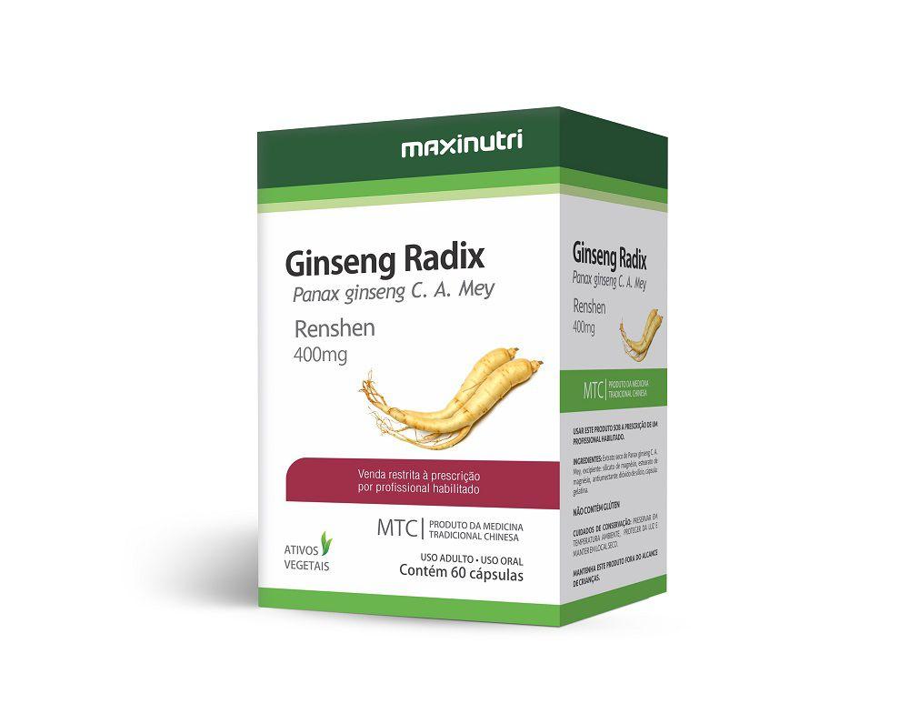 Ginseng Radix 400mg 60 Cápsulas Maxinutri