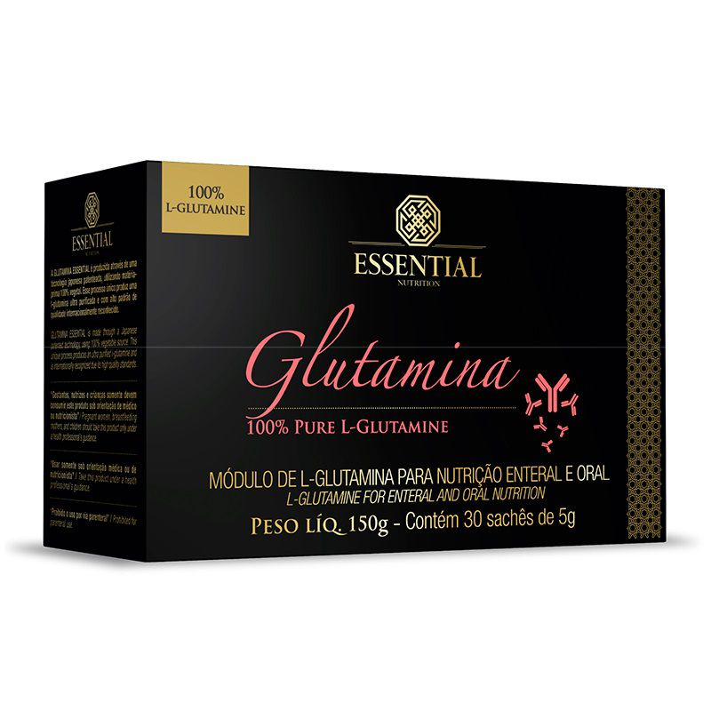 Glutamina 30 Sachês de 5g Essential Nutrition