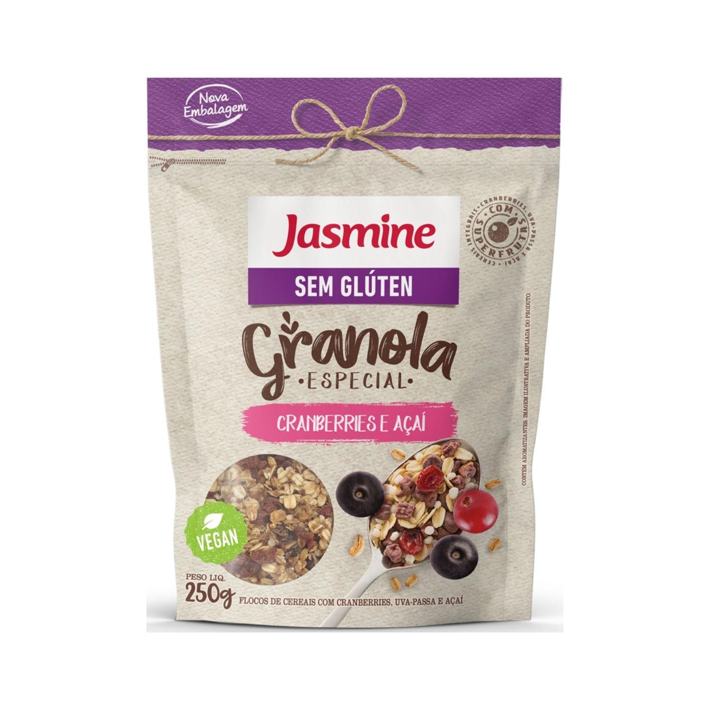 Granola Sem Glúten com Cranberries e Açaí 250g Jasmine